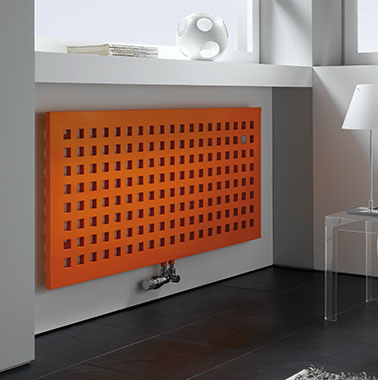 Radiateur design Karotherm Arbonia, orange, horizontal